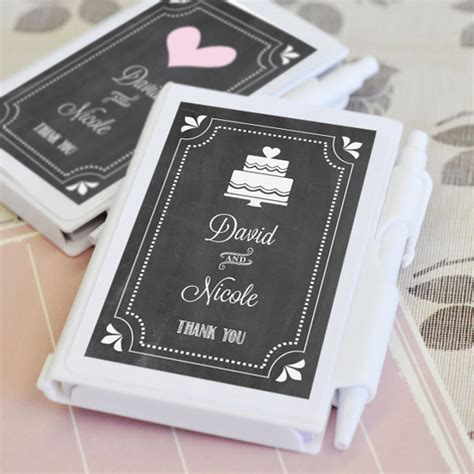 Notebook Giveaways - chalkboard wedding personalized notebook favors