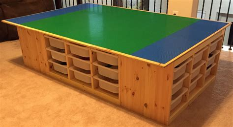 lego bench the lego table goes awesome uses 4 ikea s trofast frames