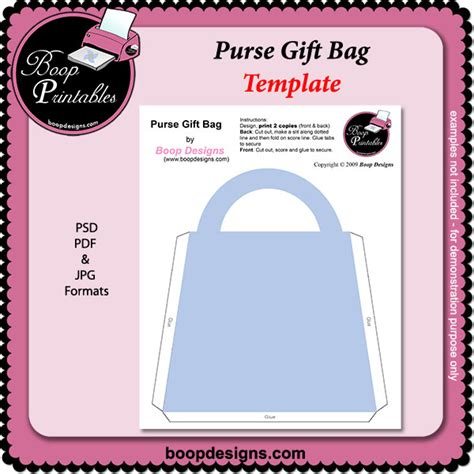 gift bag templates free printable purse gift bag template by boop printable designs purse