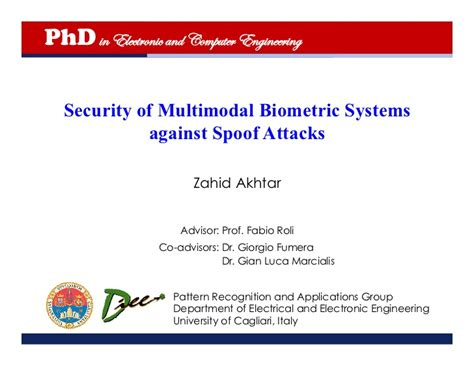 Doctorate In Security 1 by Zahid Akhtar Ph D Defense Slides