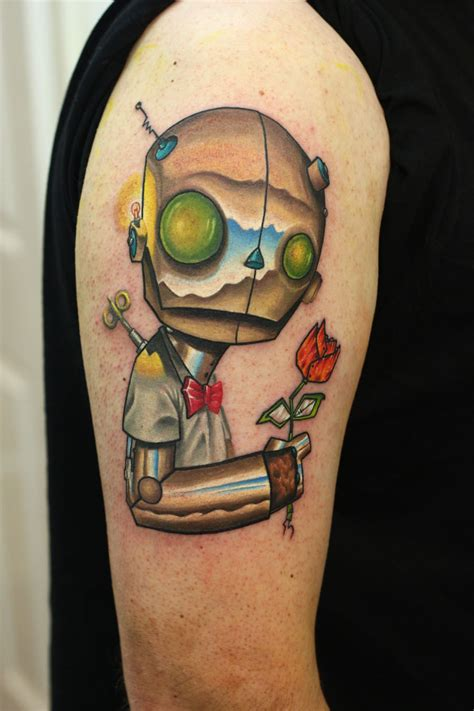 robot tattoo s thetattooedgeisha