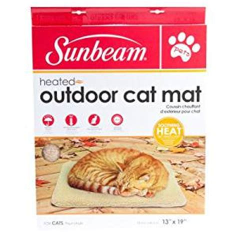 Sunbeam Heated Outdoor Cat Mat by Sunbeam Heated Outdoor Cat Mat Pet Food