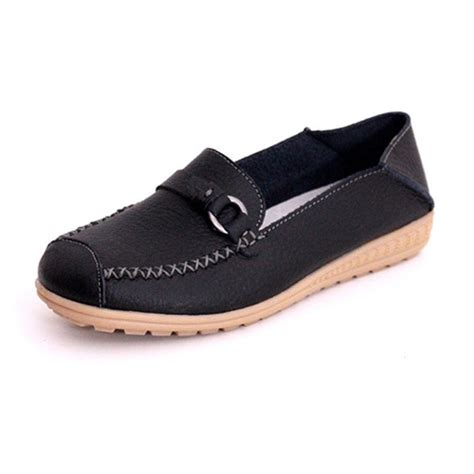 bottom flat shoes autumn flat shoes slip on loafers anti skid soft