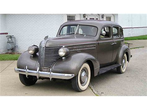 1938 Pontiac Sedan by 1938 Pontiac Series 28 Deluxe Four Door Touring Sedan For