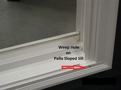 Sliding Door Weep Holes by Replacement Windows Pella Pocket Replacement Windows