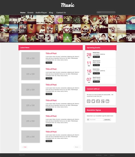 Templates Bootstrap Free Music | updated portfolio twitter bootstrap projects