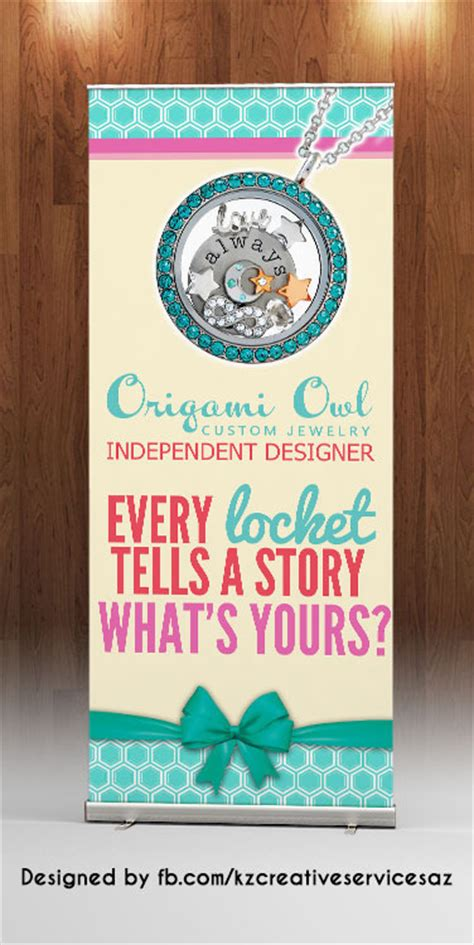 Origami Owl Warehouse - origami owl retractable banner 183 kz creative services