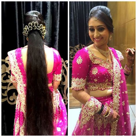 Wedding Reception Hairstyles For Indian by Traditional Southern Indian Wearing Bridal Lehenga