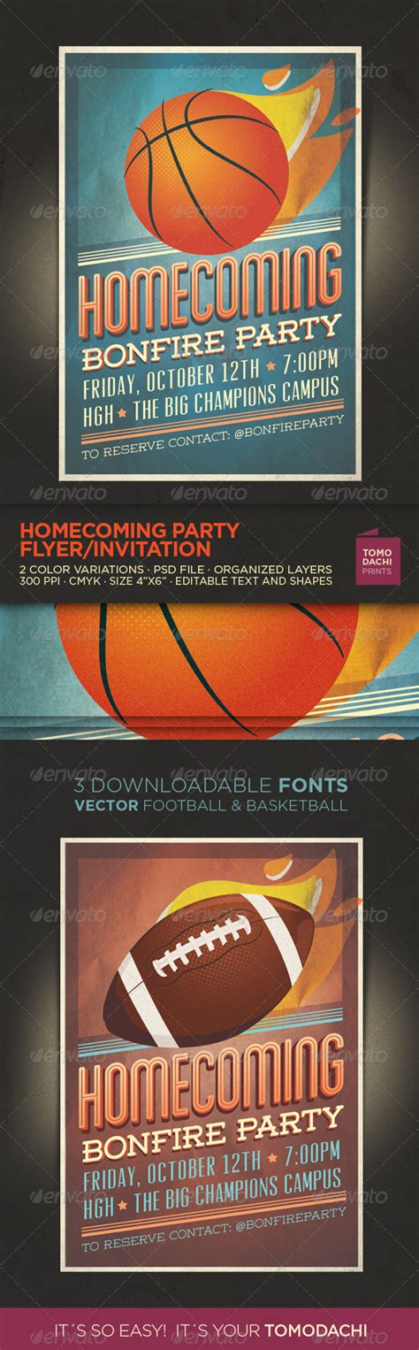 Homecoming Flyer Invitation Graphicriver Homecoming Flyer Template