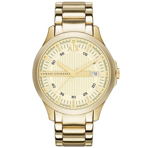 armani exchange stainless steel in gold for no