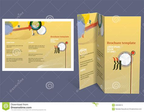 booklet design template brochure booklet z fold layout editable design template