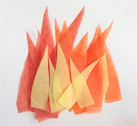 How To Make Tissue Paper Flames - make your own light up torch for the pan am play