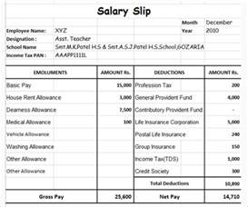 Free Salary Slip Template by Salary Slip Format Free Word Pdf Documents