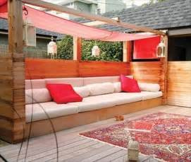 covered outdoor seating 10 diy chic pallet sofa ideas 99 pallets