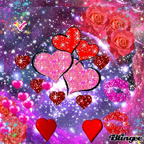 glitter tastic wallpaper animated kisses image auto design tech