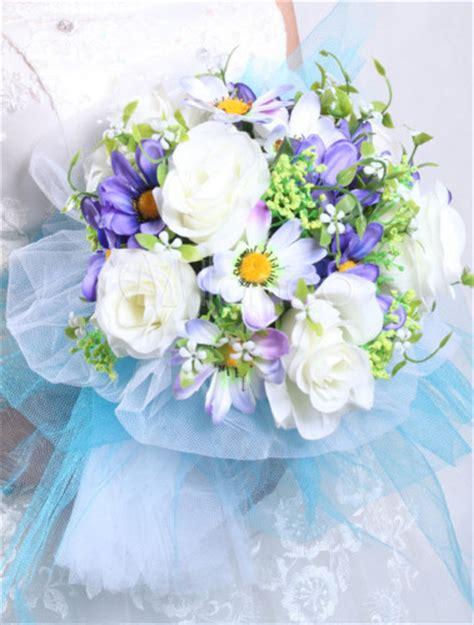 Formelle Runde Esszimmer Sets by Coole Runde Wei 223 Und Blau Organza 18 Blumen Hochzeit