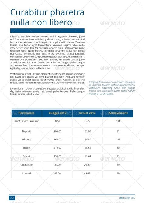 simple annual report template simple annual report template by hossaine graphicriver