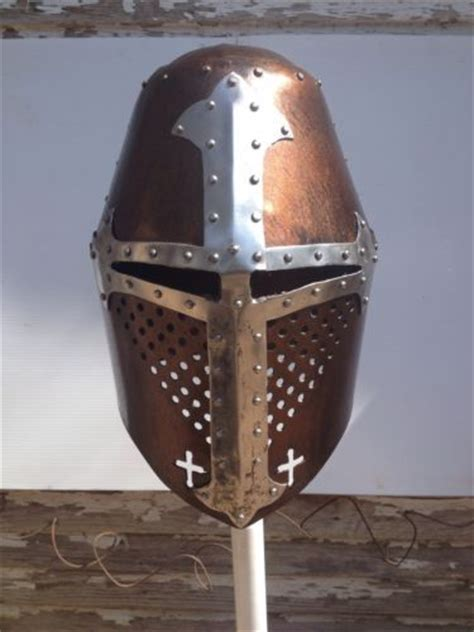 Helm Handmade - great helm crusaders knights templar helmet armor