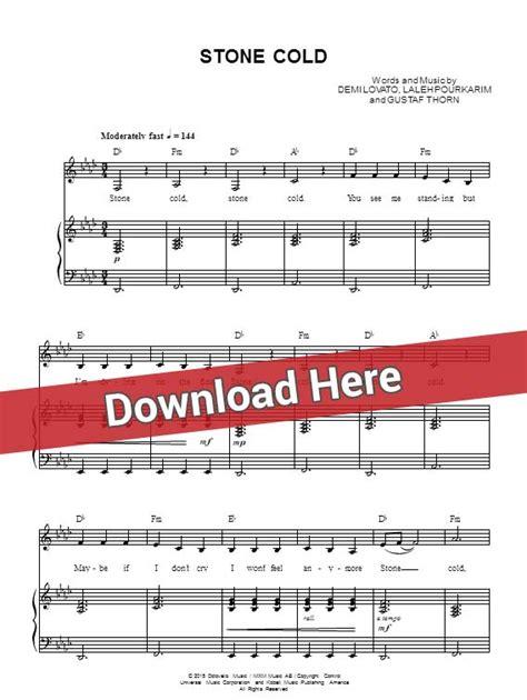stone cold demi lovato chords ultimate guitar demi lovato stone cold sheet music piano notes chords