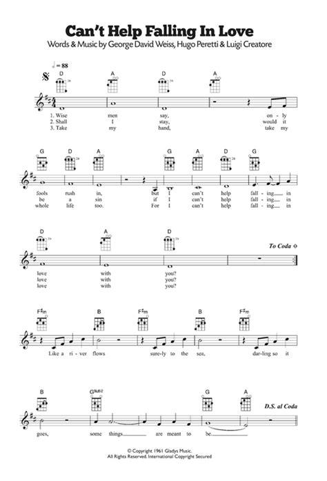 ukulele tutorial can t help falling in love can t help falling in love sheet music by ub40 ukulele