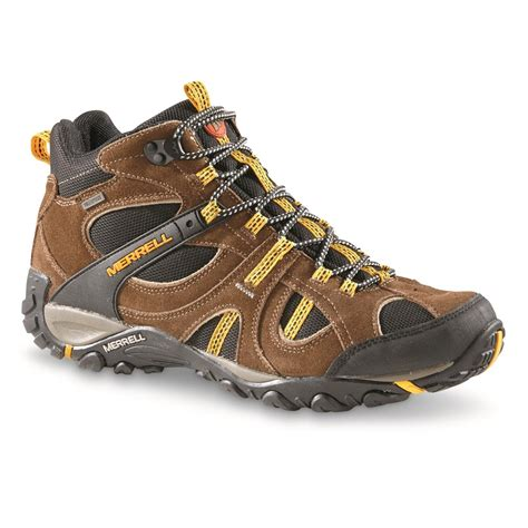 merrell mens boots merrell s yokota trail mid waterproof hiking shoes