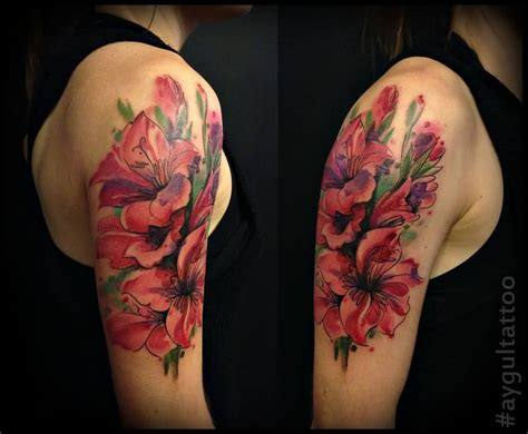 august flower tattoo lovely gladiolus flower pictures to pin on
