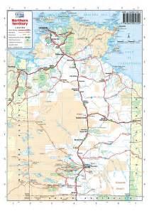roads map australia road maps northern territory