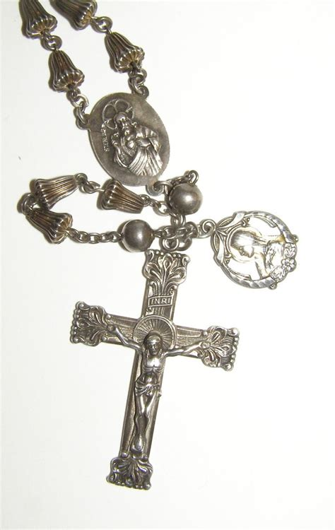 Wedding Bell Rosary vintage sterling silver wedding bell rosary