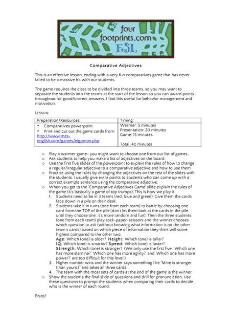 printable lesson plans for esl students worksheets adjective for elementary school opossumsoft