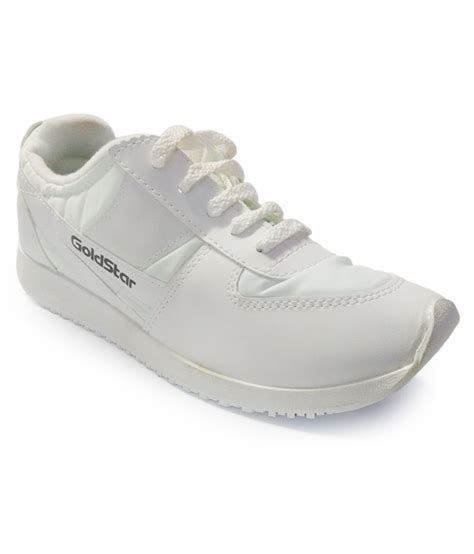 white leather sports shoes goldstar white synthetic leather sport shoes price in