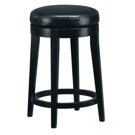 black leather tufted bar stools home decorators collection 24 in h black leather non