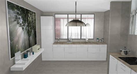cr馘ence cuisine blanche decoration interieur peinture cuisine