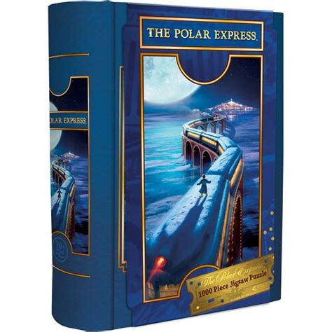 book box  polar express train  piece jigsaw puzzle
