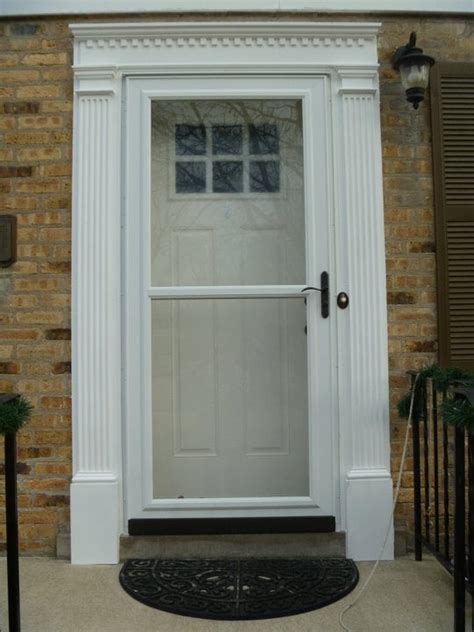 Larson Exterior Doors Therma Tru Fiberglass Entry Door And Larson Screen Away View Door Custom