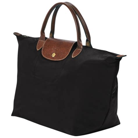 Tas Longch Original Le Pliage Cuir Medium Black sac 224 longch pliage m noir pas cher sac