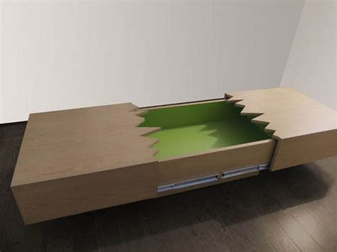 clever san andreas coffee table splits open earthquake style