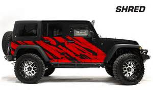 Decals For Jeeps Jeep Wrangler Rubicon Custom Vinyl Graphics Decal Wrap Kit