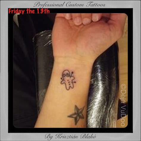 tattoo prices on friday the 13th voodoo doll wrist tattoo friday the 13th at d 232 j 225 vudoo
