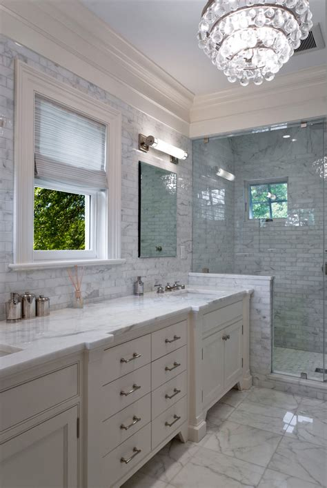 Carrara Marble Subway Tile Bathroom Contemporary With Carrara Marble Tiles Bathroom