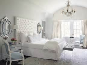 white tufted headboard bedroom by design