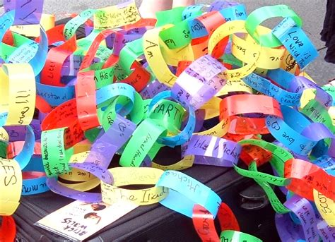 Paper Chain Crafts - thanksgiving thankful paper chains craft preschool