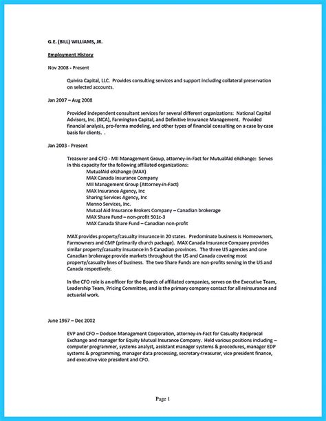 sles of a resume fund sales resume