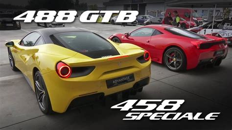 ferrari 458 vs 488 rev battle ferrari 488 gtb vs 458 speciale w novitec