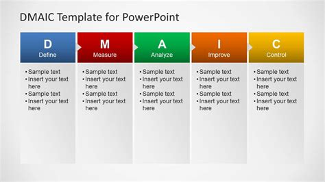 picture templates for powerpoint dmaic template for powerpoint slidemodel