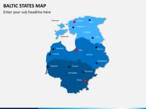 Baltic States Map by Baltic States Map Powerpoint Sketchbubble
