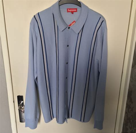 supreme sweater for sale wts supreme striped polo sweater large 329034 from