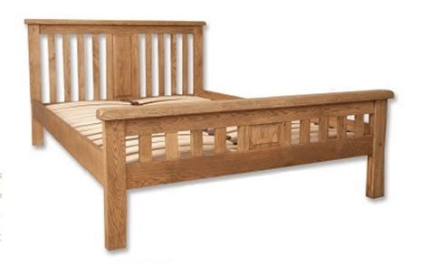 Solid Oak Bed Frame 4ft 6 Quot Free Next Day Delivery Hton Country Bedroom Chunky Solid Oak 4ft 6 Bedframe