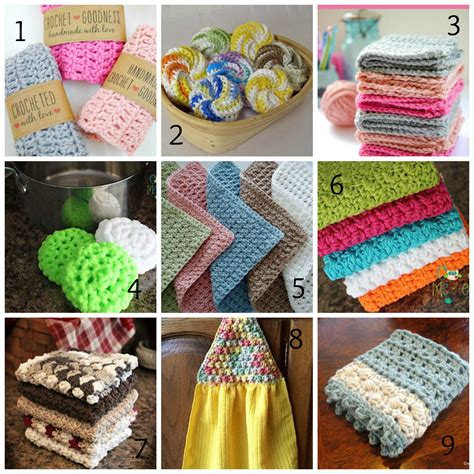crochet crafts washcloth tawashi dishcloth patterns roundup