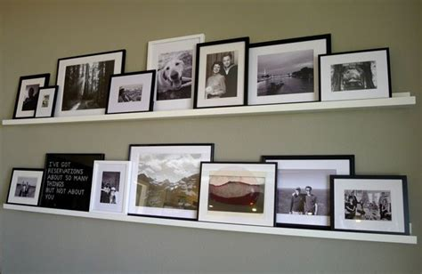 Picture Frame Ledge Shelf by Photo Collage For Wall B Ledges By Meredithheard Via