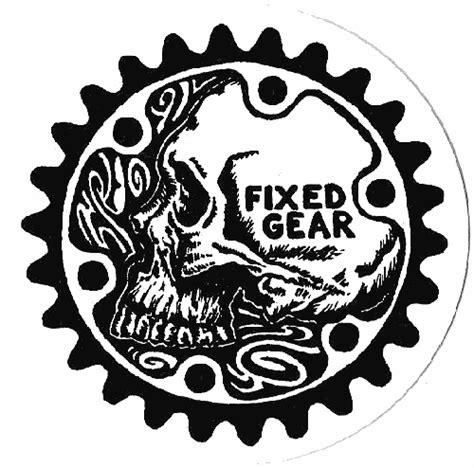 Fahrrad Aufkleber Totenkopf by Fixed Gear Skull Sticker Worlds Best Bike Stickers